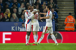 February 23, 2019 - Leicester, England, United Kingdom - Michy Batshuayi of Crystal Palace  celebrates after scoring the opening goal of the game with James McArthur of Crystal Palace  .during the Premier League match between Leicester City and Crystal Palace at the King Power Stadium, Leicester on Saturday 23rd February 2019. (Credit Image: © Mi News/NurPhoto via ZUMA Press)