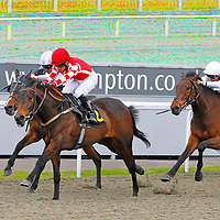 Shahrazad and S De Sousa winning the 2.20 race