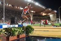 Habiba Ghribi of Tunisia competes and wins in 3000m Steeplechase Women during the International Athletics Meeting Herculis, IAAF Diamond League, Monaco on July 17, 2015 at Louis II  stadium in Monaco, France - Photo Jean-Marie Hervio / KMSP / DPPI