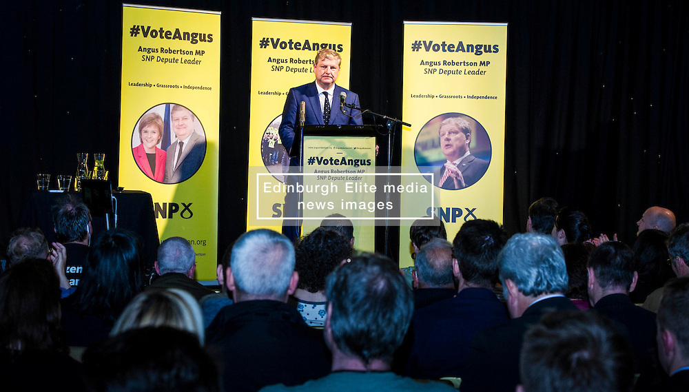 Pictured: Angus Robertson<br /> MP Angus Robertson launched his campaign for depute leadership of the SNP today. Mr Robertson made his first public speech since declaring his bid for the post, at the Voodoo Rooms in Edinburgh <br /> <br /> Ger Harley | EEm 28 July 2016