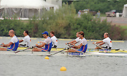 St Catherines, CANADA,  ITA M4X .Agostino ABBAGNALE , Alessandro CORONA , Rossano GALTAROSSA , Alessio SARTORI, competing at the 1999 World Rowing Championships - Martindale Pond, Ontario. 08.1999..[Mandatory Credit; Peter Spurrier/Intersport-images]   ... 1999 FISA. World Rowing Championships, St Catherines, CANADA