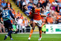 Tyler Smith of Bristol Rovers fouls Curtis Tilt of Blackpool - Mandatory by-line: Robbie Stephenson/JMP - 03/08/2019 - FOOTBALL - Bloomfield Road - Blackpool, England - Blackpool v Bristol Rovers - Sky Bet League One