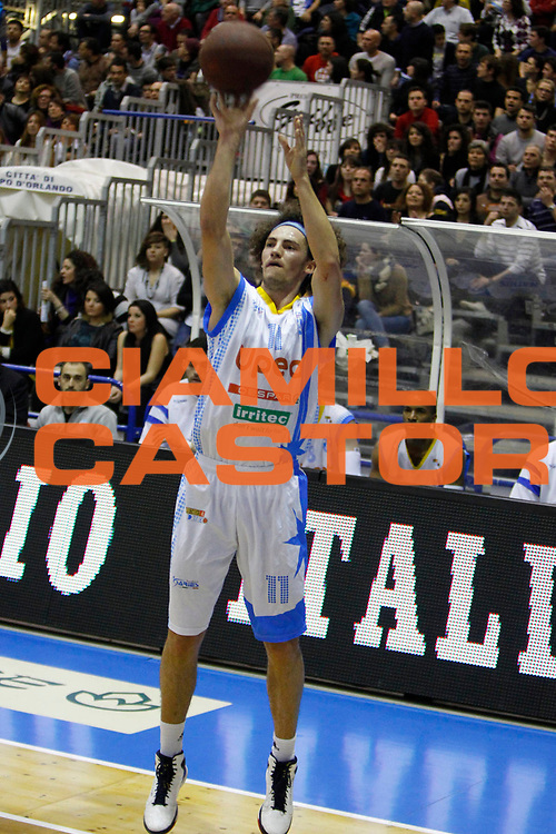 DESCRIZIONE : Capo DOrlando Campionato Lega Basket A2 2012-13 Upea Orlandina Capo dOrlando Fileni Aurora Basket  Jesi<br /> GIOCATORE : Marco Portannese<br /> SQUADRA : Orlandina Upea Capo dOrlando<br /> EVENTO : Campionato Lega Basket A2 2012-2013<br /> GARA : Upea Orlandina Capo dOrlando Fileni Aurora Basket  Jesi<br /> DATA : 17/03/2013<br /> CATEGORIA : Tiro Three Point<br /> SPORT : Pallacanestro <br /> AUTORE : Agenzia Ciamillo-Castoria/G.Pappalardo<br /> Galleria : Lega Basket A2 2012-2013 <br /> Fotonotizia : Capo dOrlando Campionato Lega Basket A2 2012-13 Upea Orlandina Capo dOrlando Fileni Aurora Basket  Jesi<br /> Predefinita :