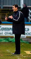 Photo: Leigh Quinnell.<br /> Hartlepool United v Swindon Town. Coca Cola League 1.<br /> 02/01/2006. Hartlepool boss Martin Scott asks his team for more.
