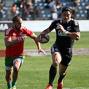 NZ All Black Sevens defeated Portugal 40-7 during the first day of theTokyo Sevens, Tokyo, Japan. Photo by Barry Markowitz, (Courtesy STP/TriMarine) 3/22/14