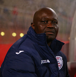 Themba Sithole (Head Coach) of Free State Stars during the 2016 Premier Soccer League match between Supersport United and The Free Stat Stars held at the King Zwelithini Stadium in Durban, South Africa on the 24th September 2016<br /> <br /> Photo by:   Steve Haag / Real Time Images
