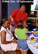 Family, People, African-American family picnic