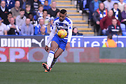 Reading's Michael Hector cpontrols the ball during the Sky Bet Championship match between Reading and Brighton and Hove Albion at the Madejski Stadium, Reading, England on 31 October 2015. Photo by Mark Davies.
