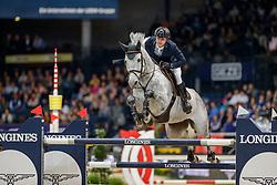 OPLATEK Andrzej (POL), Stakkatan<br /> Stuttgart - German Masters 2019<br /> Preis der Firma GEZE GmbH<br /> Int. Springprüfung mit Siegerrunde (1.50 m)<br /> CSI5*-W, Wertungsprüfung für LONGINES Ranking<br /> 16. November 2019<br /> © www.sportfotos-lafrentz.de/Stefan Lafrentz