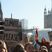 Thousands of school children went on strike and joibned in a march in Central London to save the climate and the Earth.