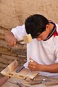 Uzbekistan, Khiva. Carpenter.