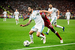 Isco of Real Madrid vs Sadio Mané of Liverpool during the UEFA Champions League final football match between Liverpool and Real Madrid at the Olympic Stadium in Kiev, Ukraine on May 26, 2018.Photo by Sandi Fiser / Sportida