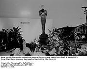 Scene outside Mortons including Oscar topiary, film crews and media. Steve Tisch &  Vanity Fair's Oscar Night Party,<br /> Mortons,  Los Angeles. March 1994.  Film 94562/11<br />  <br /> © Copyright Photograph by Dafydd Jones<br /> 66 Stockwell Park Rd. London SW9 0DA<br /> Tel 0171 733 0108.