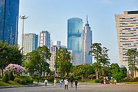 Chine, Guangdong, Guangzhou ou Canton, ville nouvelle de Zhujiang // China, Guangdong province, Guangzhou or Canton, Zhujiang new city