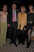Caroline Habib, Michael and Sandra Howard with Lady Emily Compton. Conservative fund raising dinner hosted  by Marco Pierre White and Franki Dettori at  Frankie's. Knightsbridge. 17 January 2004. ONE TIME USE ONLY - DO NOT ARCHIVE  © Copyright Photograph by Dafydd Jones 66 Stockwell Park Rd. London SW9 0DA Tel 020 7733 0108 www.dafjones.com