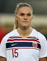 International Women's Friendly Matchs 2019 / <br /> Norway v Canada 0-1 ( La Manga Club - Cartagena,Spain ) - <br /> Kristine Bjordal Leine of Norway