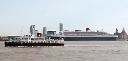 © Licensed to London News Pictures. 15/09/2011. Liverpool, UK. RMS Queen Mary berthed in Liverpool during the final day of the Mersey River Festival. Photo credit : Andrew Dawson/LNP