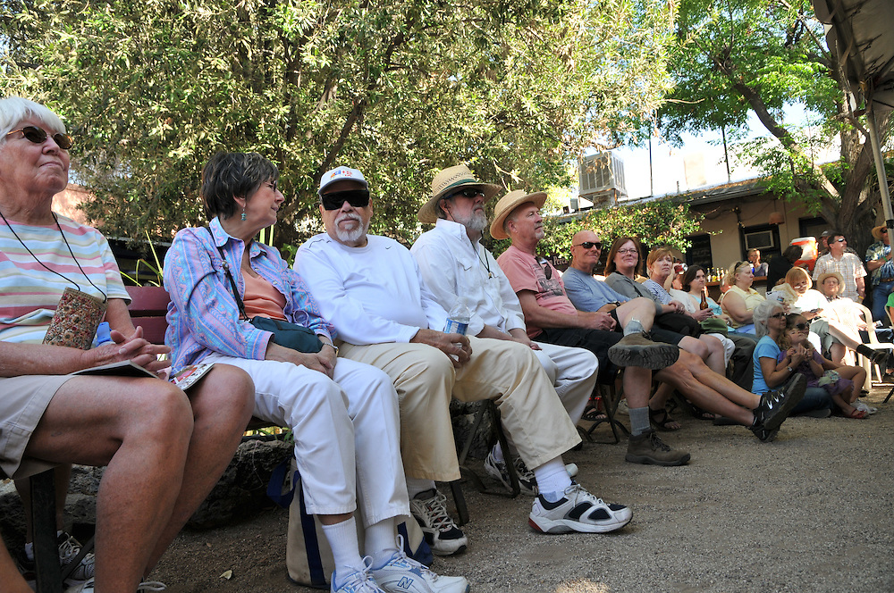 Audience at the Old Town Artisans Stage, 2011 Tucson Folk Festival. Event photography by Martha Retallick.