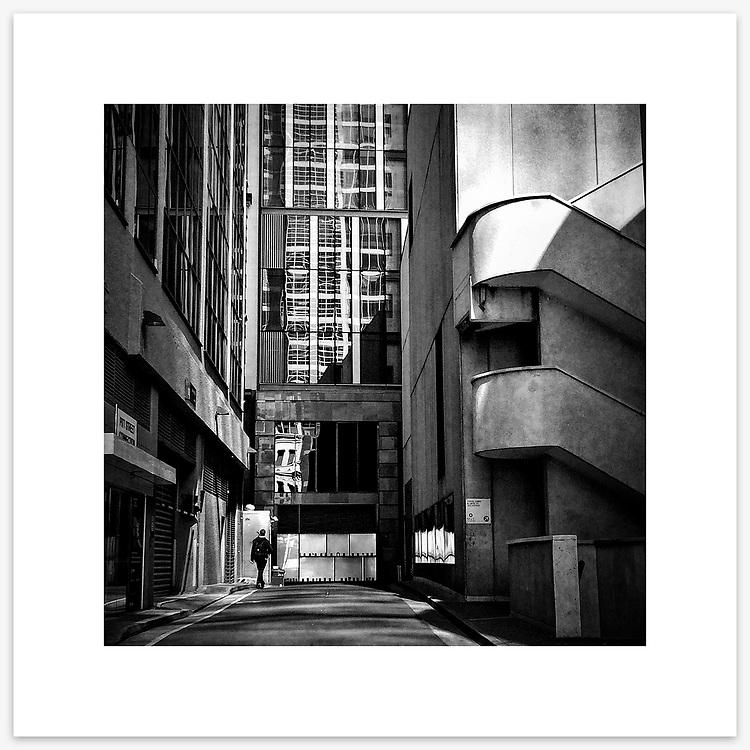Lees Court, Sydney CBD. From the Ephemeral Sydney street series.<br /> <br /> Instagram: @GirtBySeaMono