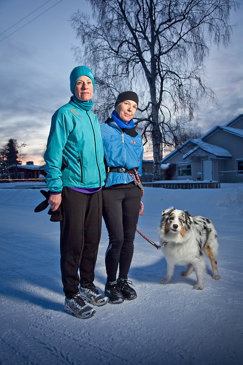 South Addition running buddies, Sarah Kleedehn and Mary Ann Chrisholm, Anchorage, Alaska
