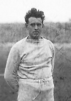 H919<br /> Aonach Tailteann Athletics - Croke Park. Man - T. Healy winner of the Shot Putt. 1928. (Part of the Independent Newspapers Ireland/NLI Collection)
