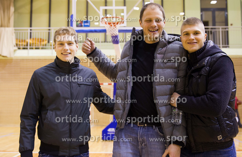 Jaka Blazic, Raso Nesterovic and Edo Muric at press conference of Basketball federation of Slovenia, on March 13, 2013 in Kranjska Gora, Slovenia. (Photo by Vid Ponikvar / Sportida.com)