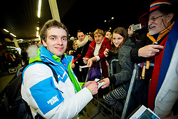 Mitja Oranic at reception of Slovenia team arrived from Winter Olympic Games Sochi 2014 on February 19, 2014 at Airport Joze Pucnik, Brnik, Slovenia. Photo by Vid Ponikvar / Sportida