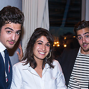 NLD/Amsterdam/20130918 - Reünie NCRV jeugdserie Spangas, Jasper en Marius Gottlieb en Fatma Genc