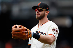 SAN FRANCISCO, CA - MAY 26: Evan Longoria #10 of the San Francisco Giants warms up before the game against the Arizona Diamondbacks at Oracle Park on May 26, 2019 in San Francisco, California. The Arizona Diamondbacks defeated the San Francisco Giants 6-2. (Photo by Jason O. Watson/Getty Images) *** Local Caption *** Evan Longoria