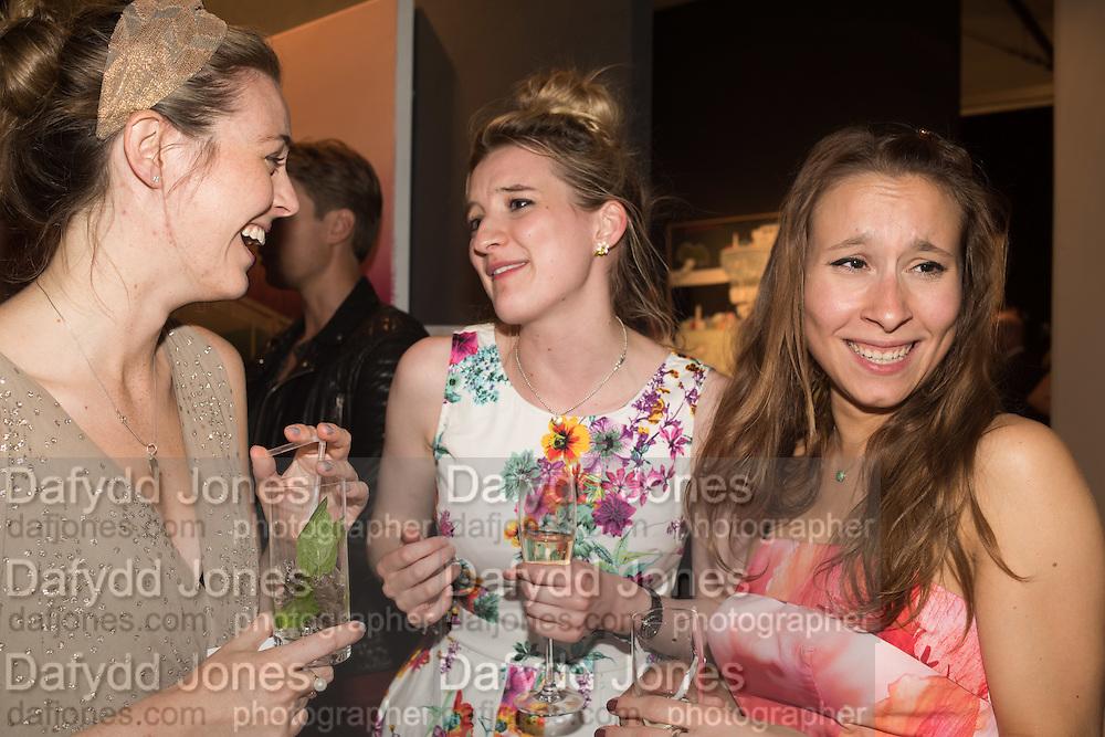 GEORGIA MCCANN;  FRANKIE CHERRY; BEATRICE SARTIRANA;; The LAPADA Art & Antiques Fair - private view, Berkeley Sq. London. 12  September 2016