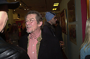 John Hurt, Inspirational Times, rock Art from Beat to Punk via Psychedelia. Sotheby's. Olympia. 6 January 2002. © Copyright Photograph by Dafydd Jones 66 Stockwell Park Rd. London SW9 0DA Tel 020 7733 0108 www.dafjones.com