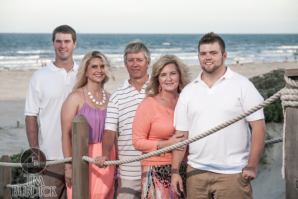 A family beach portrait session by Tim Burdick photography in Port Aransas, Texas.