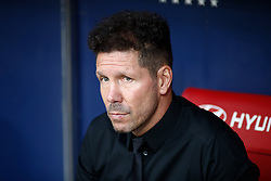 August 25, 2018 - Diego Pablo Simeone of Atletico de Madrid during the spanish league, La Liga, football match between Atletico de Madrid and Rayo Vallecano on August 25, 2018 at Wanda Metropolitano stadium in Madrid, Spain. (Credit Image: © AFP7 via ZUMA Wire)