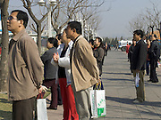 China Beijing people looking at