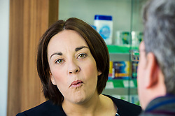 Pictured: Kezia Dugdale<br /> <br /> The Scottish  Labour leader Kezia Dugdale visited pharmacy in Edinburgh today and took the opportunity to  discuss plans on Scotland's GP situation. <br /> <br /> Ger Harley | EEm 25 April 2016