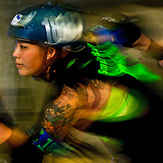 4/29/12 2:26:10 PM---Irvine, CA, U.S.A.: Killo Kitty skates in a parking garage for a portrait.<br /> <br /> Photo by Rhea Nall, Sports Shooter Academy