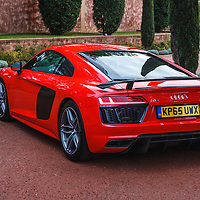 The all-new Audi R8 V10 plus Coupé (2015 model) at the Launch at Le Castellet, France, on 4 November 2015