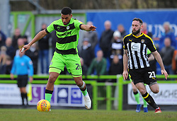 Mitch Rose of Notts County chases down Reuben Reid of Forest Green Rovers  - Mandatory by-line: Nizaam Jones/JMP- 09/02/2019 - FOOTBALL - New Lawn Stadium- Nailsworth, England - Forest Green Rovers v Notts County - Sky Bet League Two