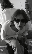 Shaun Ryder, Happy Mondays 'Step On' promotional music shoot, Sitges, Spain, 1990