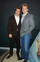 Left to right, chefs JAMIE OLIVER and GORDON RAMSAY at the Harpers and Moet Restaurant Awards 2005 held at Floridita, Wardour Street, London W1 on 31st October 2005.<br />