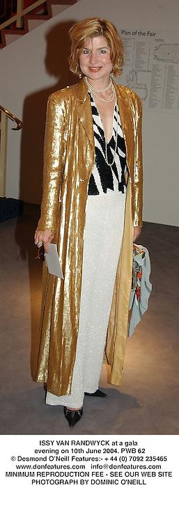ISSY VAN RANDWYCK at a gala evening on 10th June 2004.PWB 62