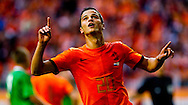 NETHERLANDS, Amsterdam In action Ibrahim Afellay reacts adter scoring the  4.-0  The Netherlands versus Northern Irland during friendly soccer match between Netherlands vs Northern Irland in Rotterdam on June 2, 2012. AFP PHOTO/ ROBIN UTRECHT