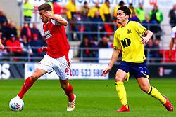 Lewis Travis of Blackburn Rovers chases down an attacking Will Vaulks of Rotherham United - Mandatory by-line: Ryan Crockett/JMP - 02/03/2019 - FOOTBALL - Aesseal New York Stadium - Rotherham, England - Rotherham United v Blackburn - Sky Bet Championship