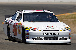 June 24, 2011; Sonoma, CA, USA;  NASCAR Sprint Cup Series driver Andy Pilgrim (46) drives towards turn 8 during practice for the Toyota/Save Mart 350 at Infineon Raceway.