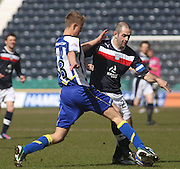Gary Harkins  and Mark O'Hara  - Kilmarnock v Dundee - Clydesdale Bank Scottish Premier League at Rugby Park. - © David Young - www.davidyoungphoto.co.uk - email: davidyoungphoto@gmail.com````````````````````````````````