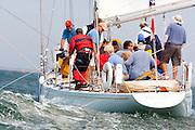 12 Meter Class Weatherly racing at the Nantucket 12 Meter Regatta