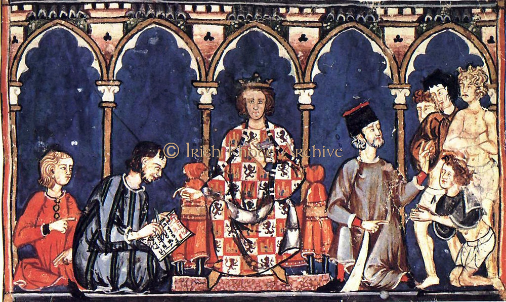 The role of the Nobility in Spain:Alfonso X (Toledo, Spain, November 23, 1221 – April 4, 1284 in Seville, Spain) was a Castilian monarch who ruled as the King of Castile, León and Galicia from 1252 until his death. He also was elected King of the Germans (formally King of the Romans) in 1257, though the Papacy prevented his confirmation. He established Castilian as a language of higher learning, founded universities (Salamanca and Toledo) and earned his nicknames 'el Sabio' ('the Wise' or 'the Learned') and 'el Astrólogo' ('the Astronomer') through his own prolific writings
