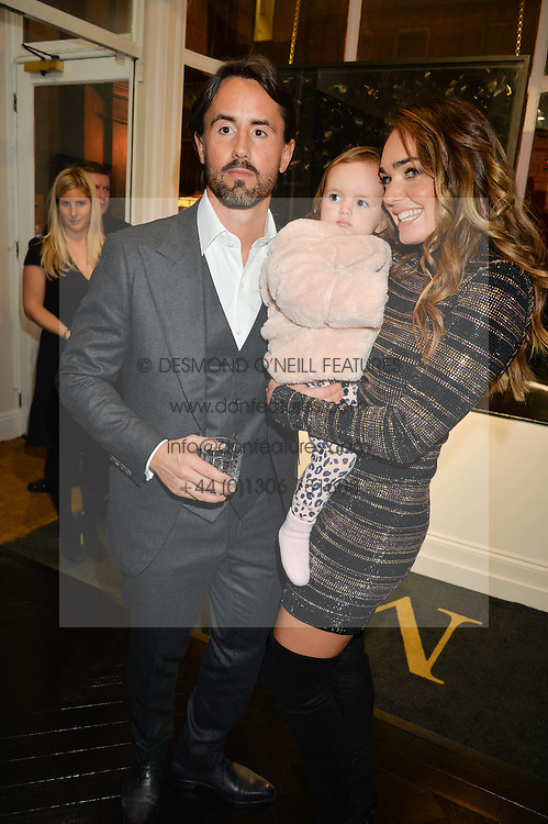 JAY RUTLAND and TAMARA ECCLESTONE -RUTLAND and their daughter SOPHIA RUTLAND at a party to celebrate the launch of the Maddox Gallery at 9 Maddox Street, London on 3rd December 2015.