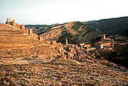 SPAIN, ARAGON Albarracin; walled village on cliffs
