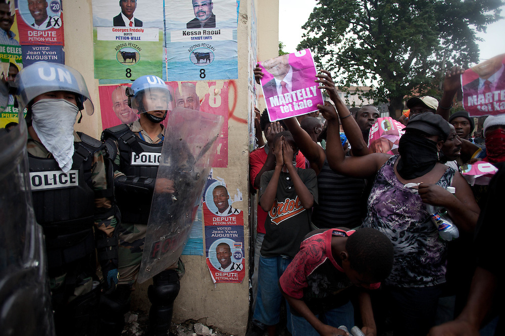 Protestors take to the streets for the second day in a row in response to Haiti's election results which were announced on Tuesday December 7th among allegations of fraud.